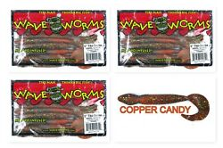 3 Unopened Packs Bags Wave Pack Plastics 5 Tiki-Snake Copper Candy Brand New $9.99
