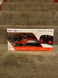Sky Rover Outlaw RC Helicopter Indoor Remote Control with Gyro amp; Lights Orange $33.00