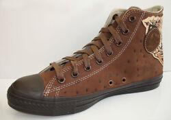 1V448 Converse Chuck Taylor All Star Sailor Jerry Brown Leather Hi 12 Mens $100.00