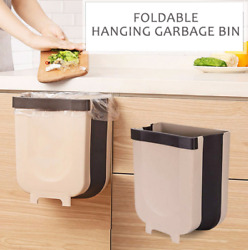Creative Wall Mounted Folding Waste Bin Kitchen Bin Can Rubbish Container Box $12.95