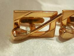 Vintage 1960's Nice Gold Tone Gold Club Square Anson Signed Classic Links 826o9 $19.99