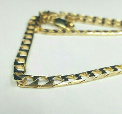 14 Karat Yellow Gold Square Curb Link Chain Made in Italy 25.8 grams $2,299.95