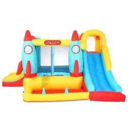 Inflatable Bounce House Kids Big Slide Jump Bouncer Castle with 450W Air Blower $228.79