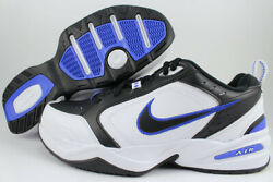 NIKE AIR MONARCH IV 4 EXTRA WIDE 4E EEEE BLACK WHITE ROYAL BLUE TRAINER MEN SIZE $75.99