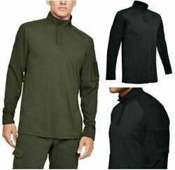 Under Armour 1351792 Men#x27;s UA Tactical Combat 1 4 Zip Front Long Sleeve Shirt $64.99