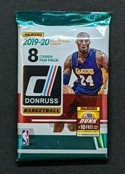 2019-20 PANINI DONRUSS NBA Basketball 1 NEW RETAIL PACK 8 CARDS MORANT ZION $10.99