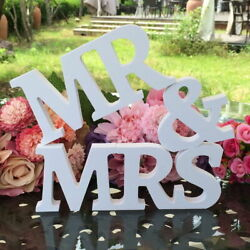 Mr and Mrs Wedding Wooden Sign Wood Letters Decor Decoration Table Top Standing $13.38