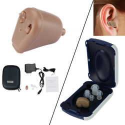 1 2Packs Rechargeable Digital Mini In Ear Hearing Aid Adjustable Tone Amplifier $10.66