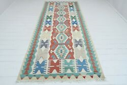 Vintage Turkish Rug Antique Wool Floor Modern Rug Kilim 511quot;X120quot; Carpet $389.00