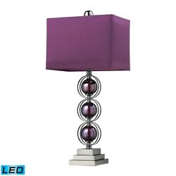 Elk Home Alva Contemporary Table Lamp Black Nickel and Purple LED D2232 LED $252.00