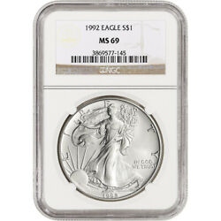 1992 American Silver Eagle - NGC MS69 $45.00