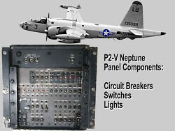 NEPTUNE P2-V CIRCUIT BREAKER PANEL-SWITCHES CIRCUIT BREAKERS & MUSHROOM LIGHTS $275.00