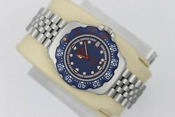 Tag Heuer 370.513 WA1210 Professional Watch Womens Mens MIDSIZE BLUE RED SS