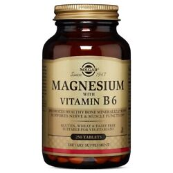 Solgar Magnesium with Vitamin B6 250 Tablets FRESH FREE SHIPPING MADE IN USA $15.89