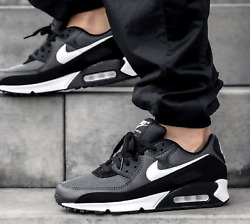 New NIKE Air Max 90 Essential Athletic Sneakers Mens gray black all sizes $124.99