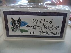 SPOILED PET ON PREMISES SIGN OR MAGNET YOU PICK BREED #2 $3.95