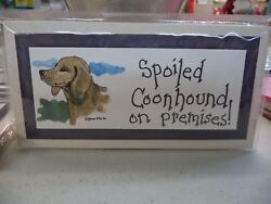 SPOILED PET ON PREMISES SIGN OR MAGNET YOU PICK BREED #4 $3.95