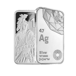 10 oz DGSE 0.999 Silver Bar - Freedom Symbol Stamped $330.72