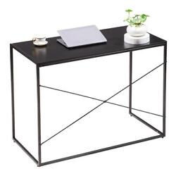 Modern Computer Desk Wooden Workstation Study Table Home Office Black $59.95