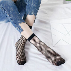 US Fashion Women Ruffle Fishnet Ankle Socks Mesh Lace Fish Net Short Socks Sexy