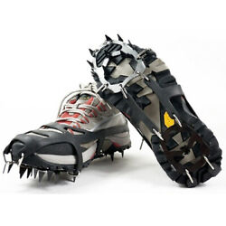 18Teeth Winter Ice Snow Anti Slip Spikes Grips Crampon Cleats Shoes Boot Hiking $12.99