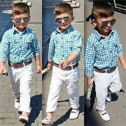 Toddler KIds Baby Boys Clothes Dress Shirt + Pants Outfits Set Party Suit $10.44