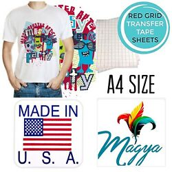 Iron on Heat Transfer Paper Light Fabrics Red Grid A4 50 Sheets Free Delivery $19.97