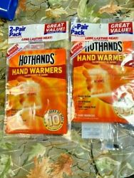 2- HotHands Hand Warmers 2 Pair Packs Exp 1222 NEW $8.50