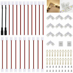54x 2Pin RGB 3528 2835 LED Connector LED Strip Light Connectors Accessories Kit $9.97