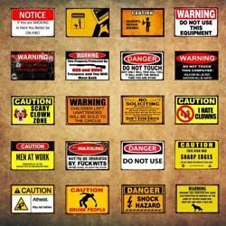 Tin Sign Warning Do Not Use Man Cave Metal Retro Signs Plaques Wall Decor 8*12in $13.98