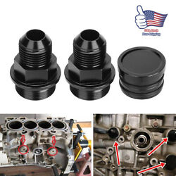 M28 To 10AN Black Rear Block Breather Fitting Adapter For Oil Catch Can B16 B18