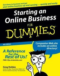 Starting an Online Business for Dummies by Greg Holden $4.09