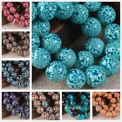 8mm 10mm Round Glass Colorful Painted Loose Crafts Beads lot Jewelry Making DIY $2.75