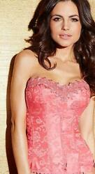 *NWOT FREDERICK#x27;S OF HOLLYWOOD SALMON ROSE DREAM SWEETHEART CORSET sz 36 $24.99