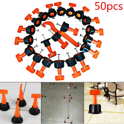 50X Flat Ceramic Floor Wall Construction Tool Reusable Tile Leveling System Kit $28.49