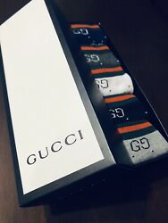 BRAND NEW IN BOX 5 PAIR MEN'S GUCCI SOCKS SIZE LARGE 5 COLORS $72.95