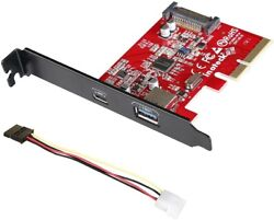 Inateck PCI E to USB 3.1 PCI Express Card Including Type A $20.61