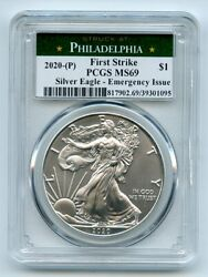 2020 (P) $1 American Silver Eagle 1oz Emergency Issue PCGS MS69 First Strike $65.00