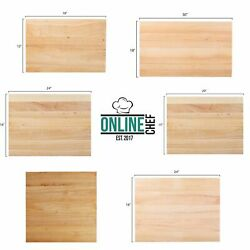 Large Wood Restaurant Cutting Boards Butcher Block Commercial Kitchen Rigid $62.05
