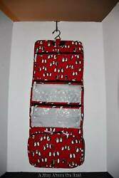Vera Bradley Hanging Organizer in Playful Penguins RED #15829 J09 NWT $22.99