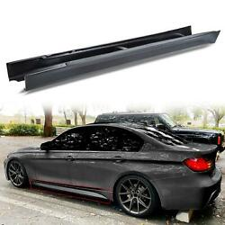 For 12-18 F80 M3 STYLE SIDE SKIRTS SET FOR ALL BMW F30 F31 3 SERIES SEDAN WAGON $85.00