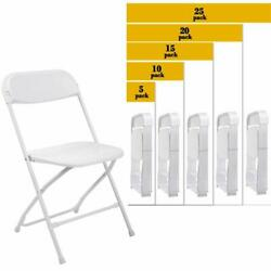 5 to 25 PACK Commercial Wedding Home Stackable Plastic Folding Party Chairs