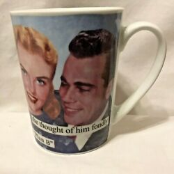 Anne Taintor porcelain coffee cup mug 'She thought of him as Plan B'