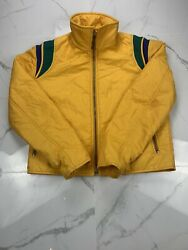 Vintage Number 1 Sun Size Small Yellow 70s Ski Jacket Coat See Measurements $40.99