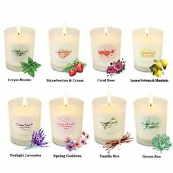 Nice Set of 8 Scented Candles 2.5 Oz 20-25 Hours Exotic Scents Assorted Natural $39.95