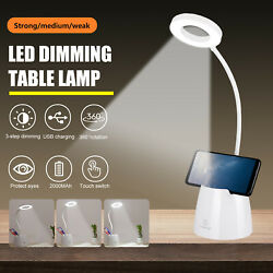 Dimmable 18 LED Desk Light Bedside Reading Lamp Rechargeable Table Touch Control $15.97