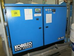 KOBELCO KNW Air Compressor 200 HP Oil Free Rotary Screw Two Stage KNW1-GH
