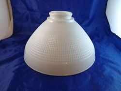 Torchiere Floor Lamp Shade 10quot; CORNING Milk Glass Lamp Diffuser Rembrandt Waffle $29.88
