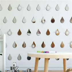 Fashion Wall Sticker Waterdrop DIY Living Room Sparkling Removable Acrylic W $6.93