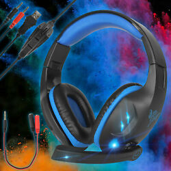 Wired Gaming Headset Stereo Bass Surround for PS4 New Xbox One PC with Mic $19.97